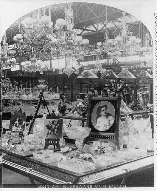 Glassware Display at the Centennial Exhibition | Circa 1876