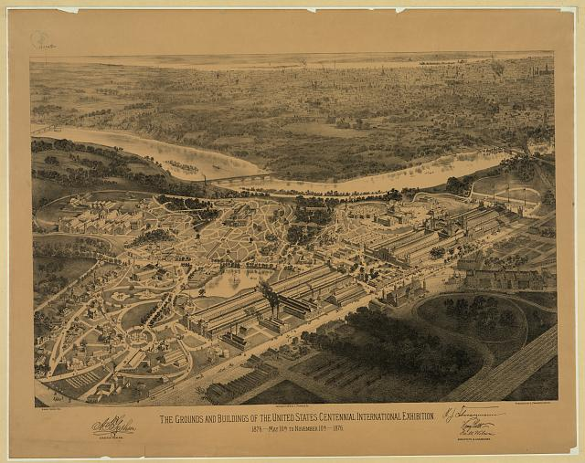 Grounds and Buildings at the Centennial Exhibition | Circa 1876
