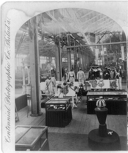 Machinery Hall at the Centennial Exhibition | Circa 1876