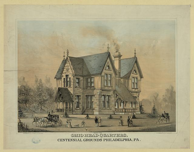Ohio Headquarters on the Centennial Grounds in Philadelphia | Circa 1876