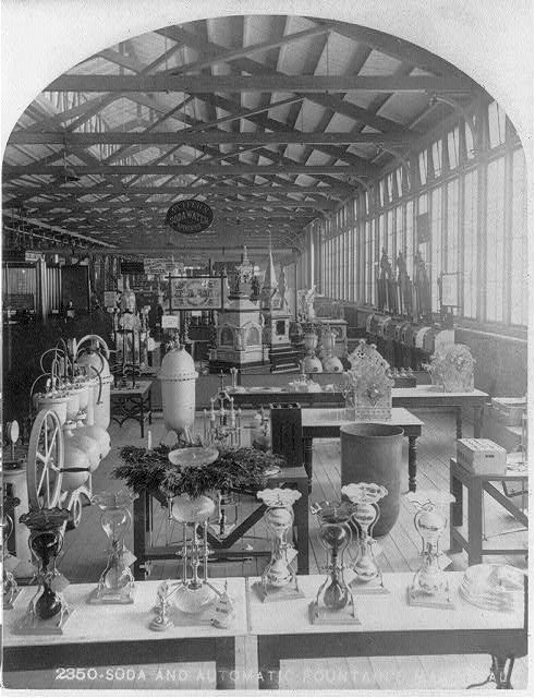 Soda Display at the Centennial Exhibition | Circa 1876