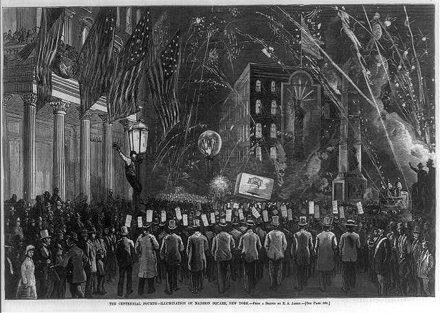 The Centennial Fourth at Madison Square Garden | Circa 1876