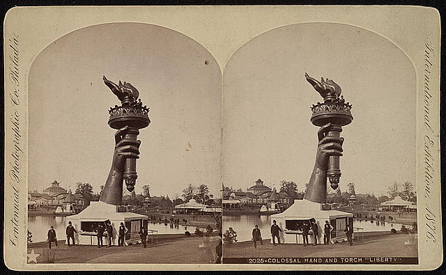 Torch and Part of the Arm of the Statue of Liberty at the Centennial Exhibition | Circa 1876
