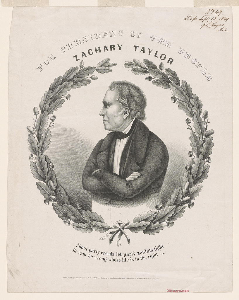 Campaign Banner for Zachary Taylor | Circa 1864