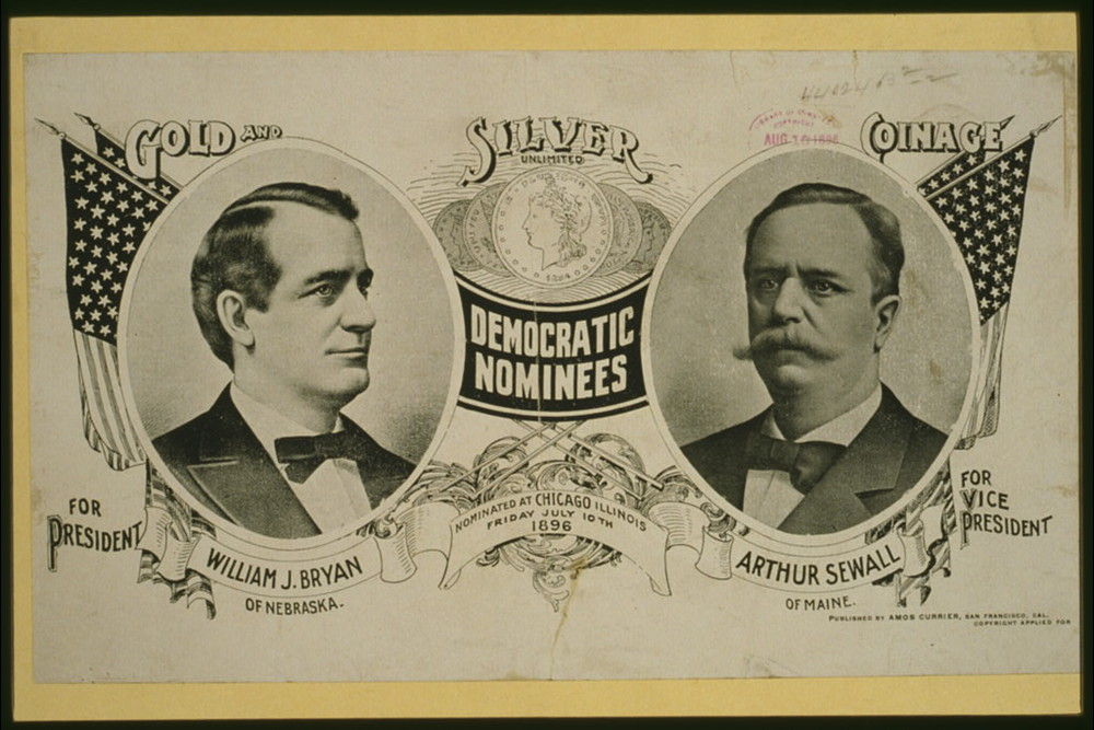 Democratic Nominees for President | Circa 1896