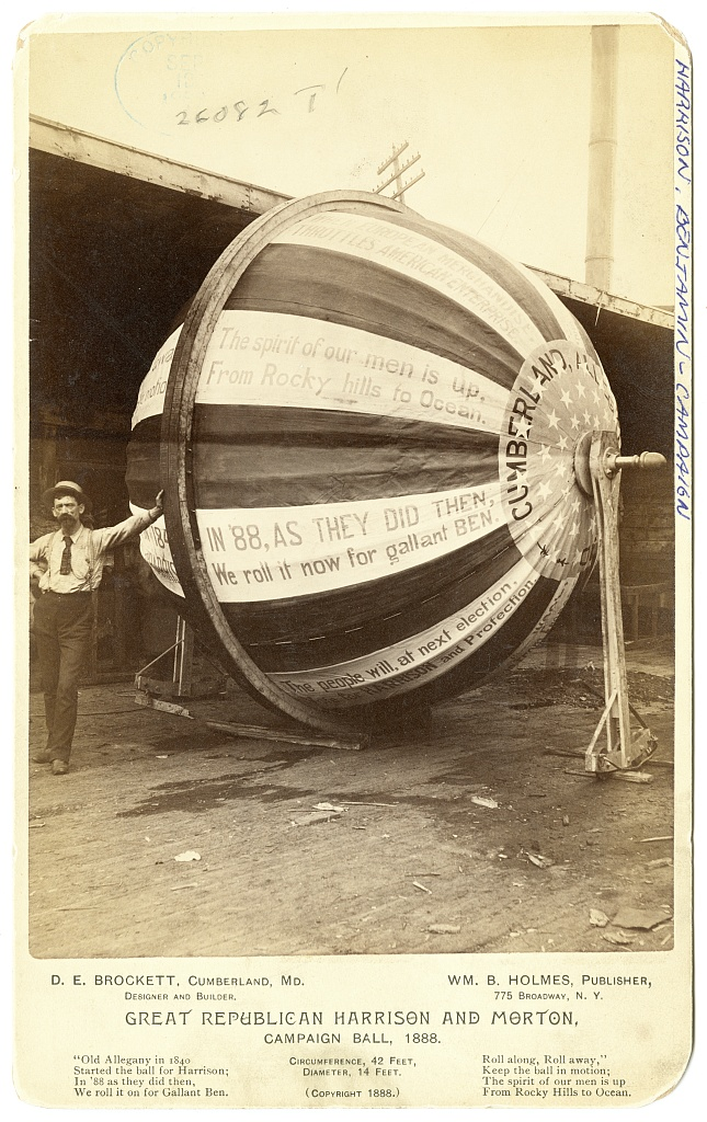 Great Republican Harrison and Morton Campaign Ball | Circa 1888