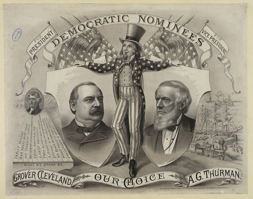 Grover Cleveland and A.G. Thurman, the Democratic Nominees for President | Circa 1888