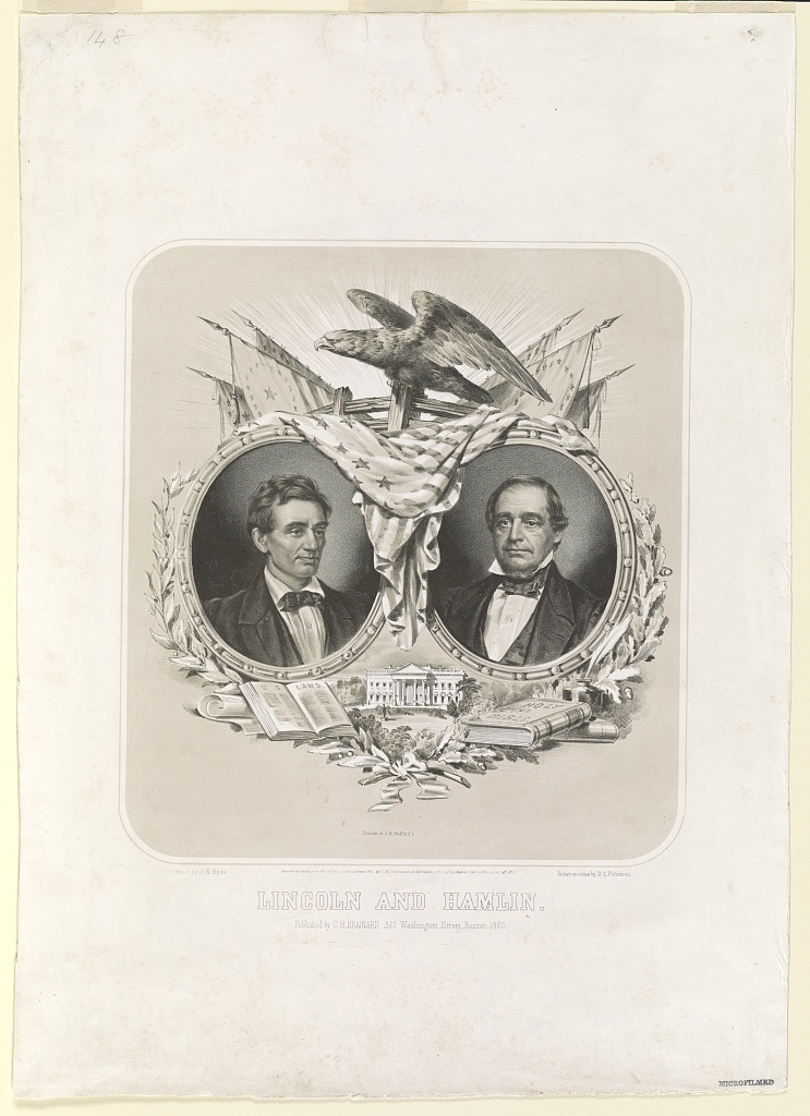 Lincoln and Hamlin | Circa 1860