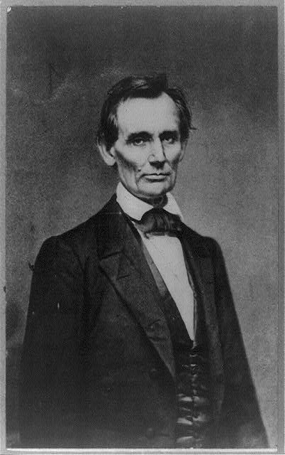 Lincoln before Delivering his Cooper Union Address in New York | Circa 1860