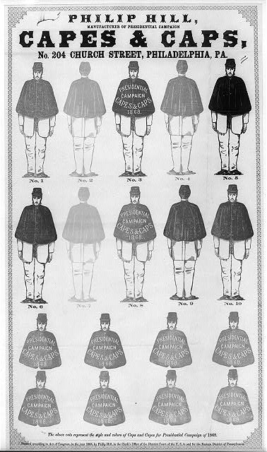 Presidential Campaign Capes and Caps | Circa 1868