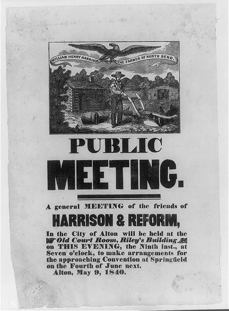 Public Meeting for Harrison and Reform | Circa 1840