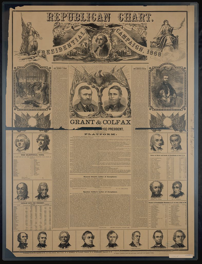 Republican Chart for the Presidential Campaign | Circa 1868