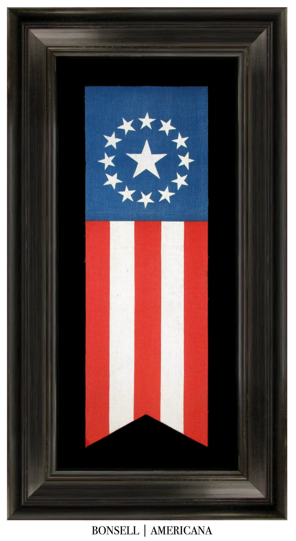 13 Star Antique Patriotic Banner with a 3rd Maryland Style Star ...