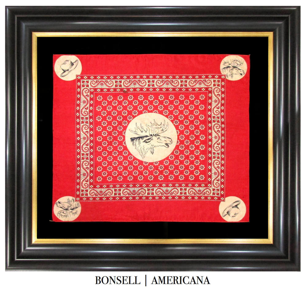 Rare Teddy Roosevelt Campaign Bandanna | Associated with the Progressive Bull Moose Party