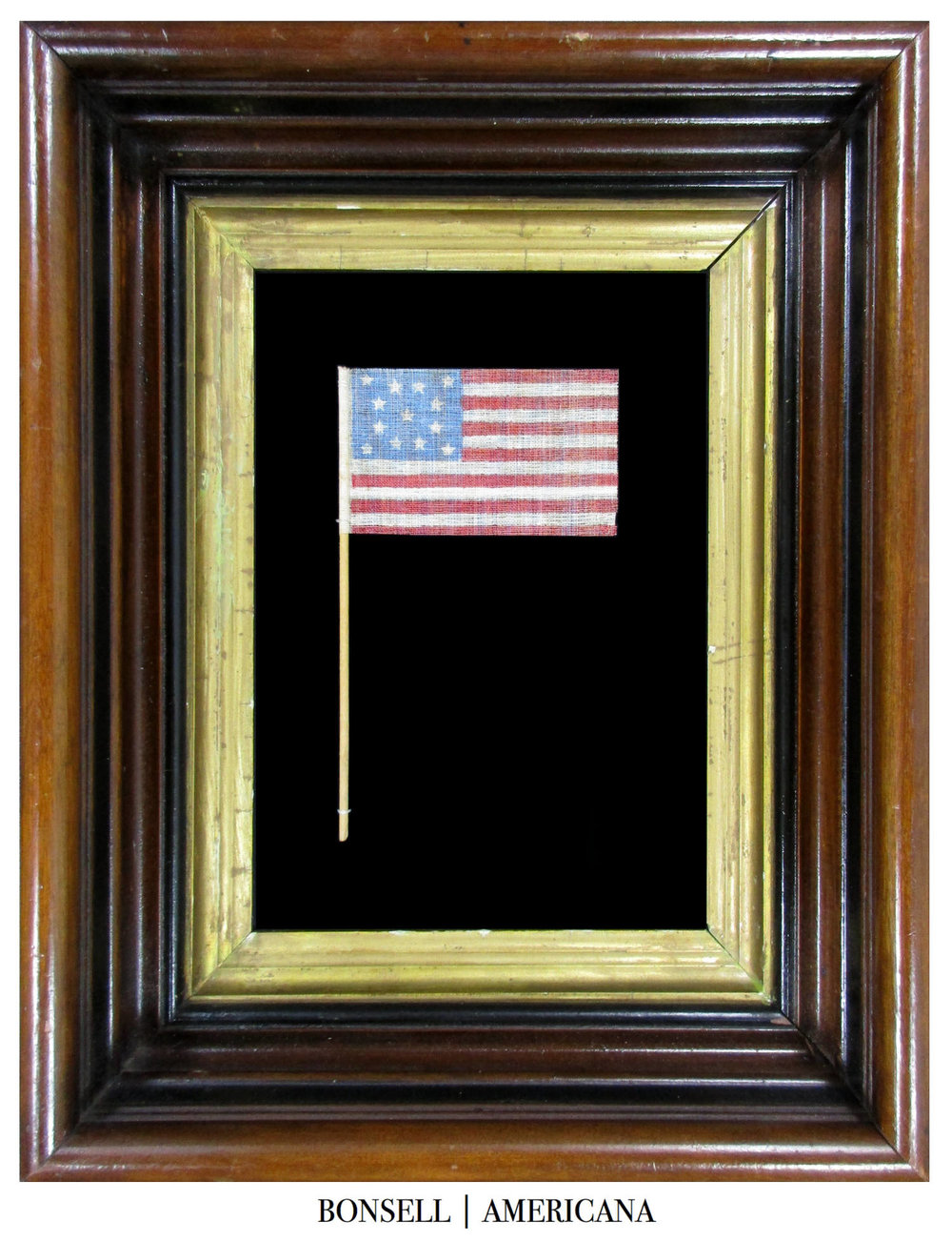 13 Star Antique US Parade Flag Made to Celebrate the Centennial in 1876