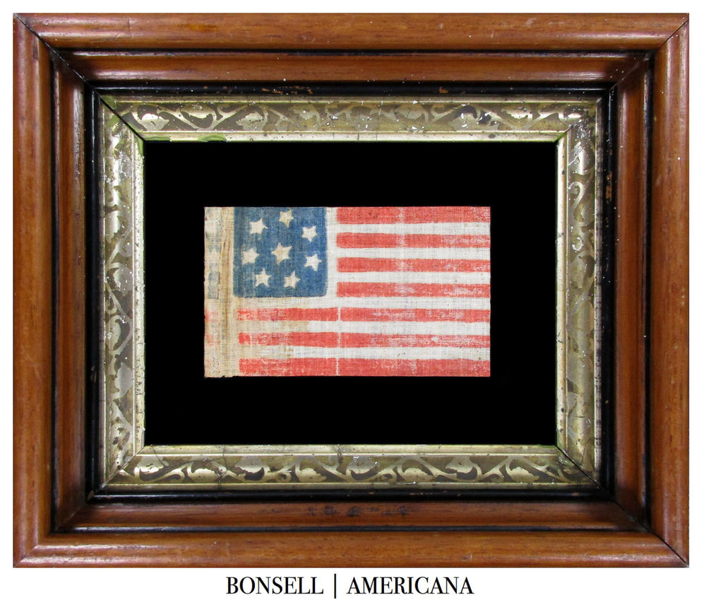 8 Star Antique Flag Made with Southern Sympathies to Celebrate the Secession of Virginia from the Union