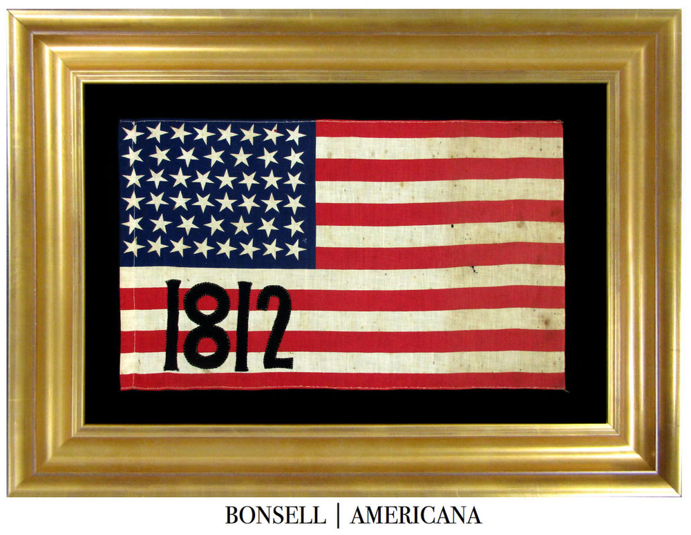 46 Star Antique Flag Made to Celebrate the War of 1812