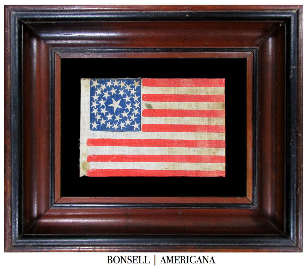 35 Star Antique Civil War US Flag