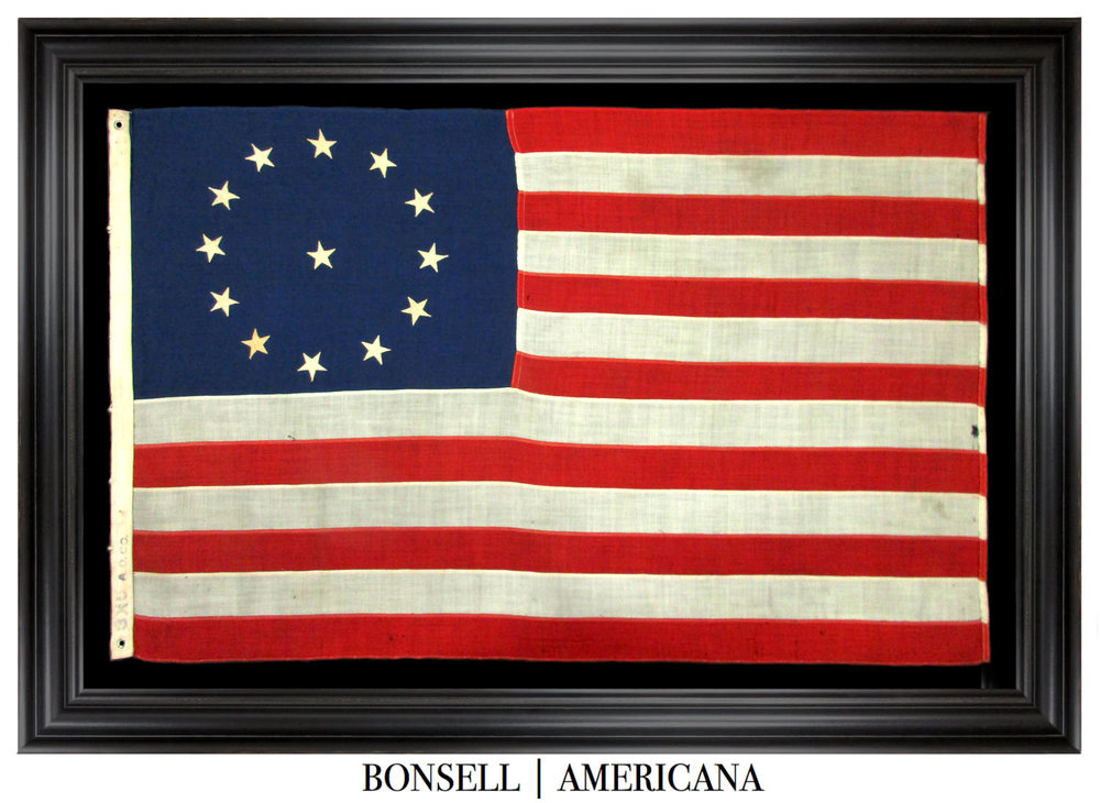 13 Star Antique American Flag with a Cowpens Star Pattern | A Pattern Associated with the 3rd Maryland Regiment