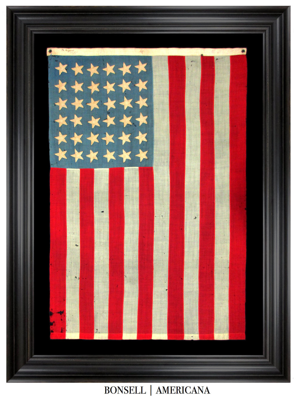36 Star Antique American Flag Owned by Dr. Raymond