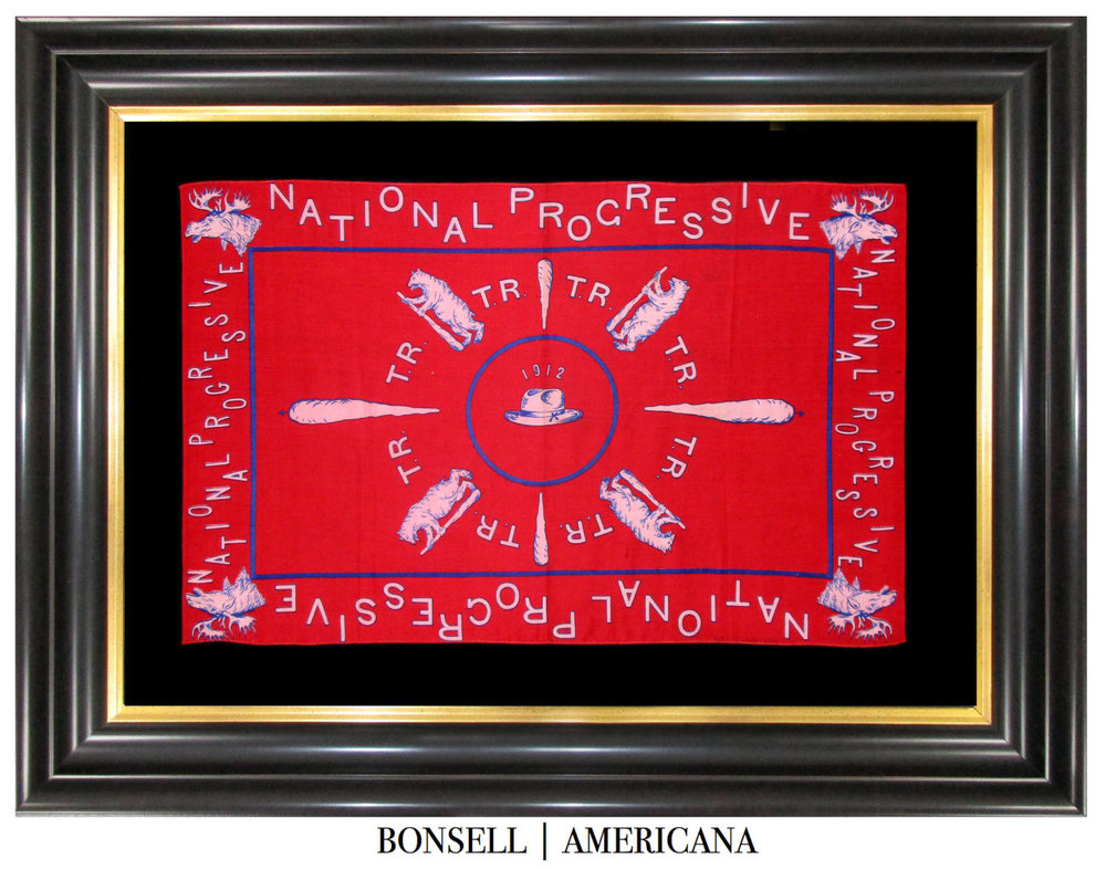 1912 Teddy Roosevelt National Progressive Campaign Bandanna