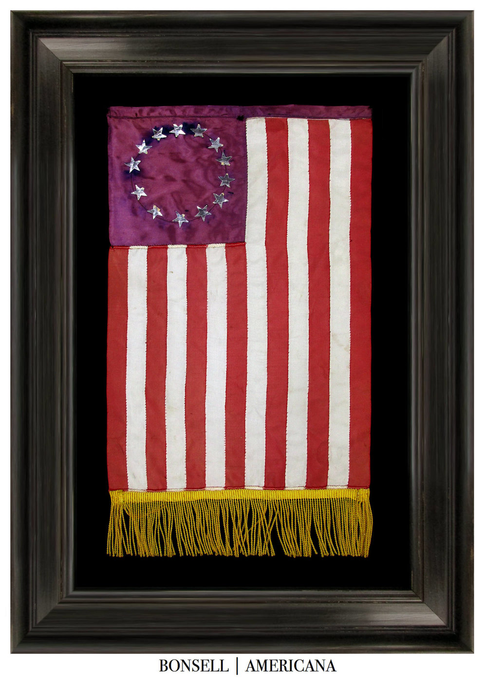 Entirely Handmade Antique Betsy Ross Flag
