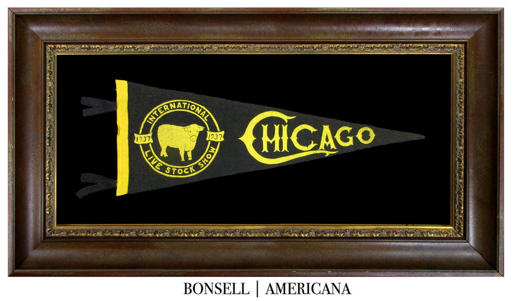 Antique Chicago International Live Stock Show Pennant