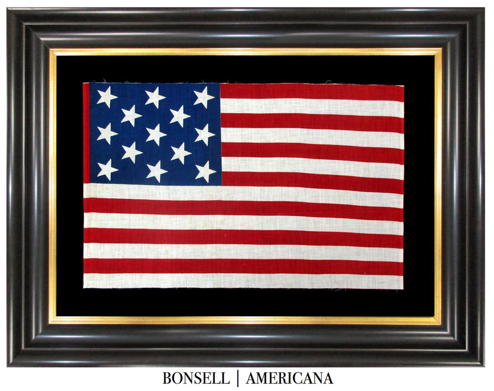 13 Star Antique US Flag in a Large Scale | Likely of Canadian Origin