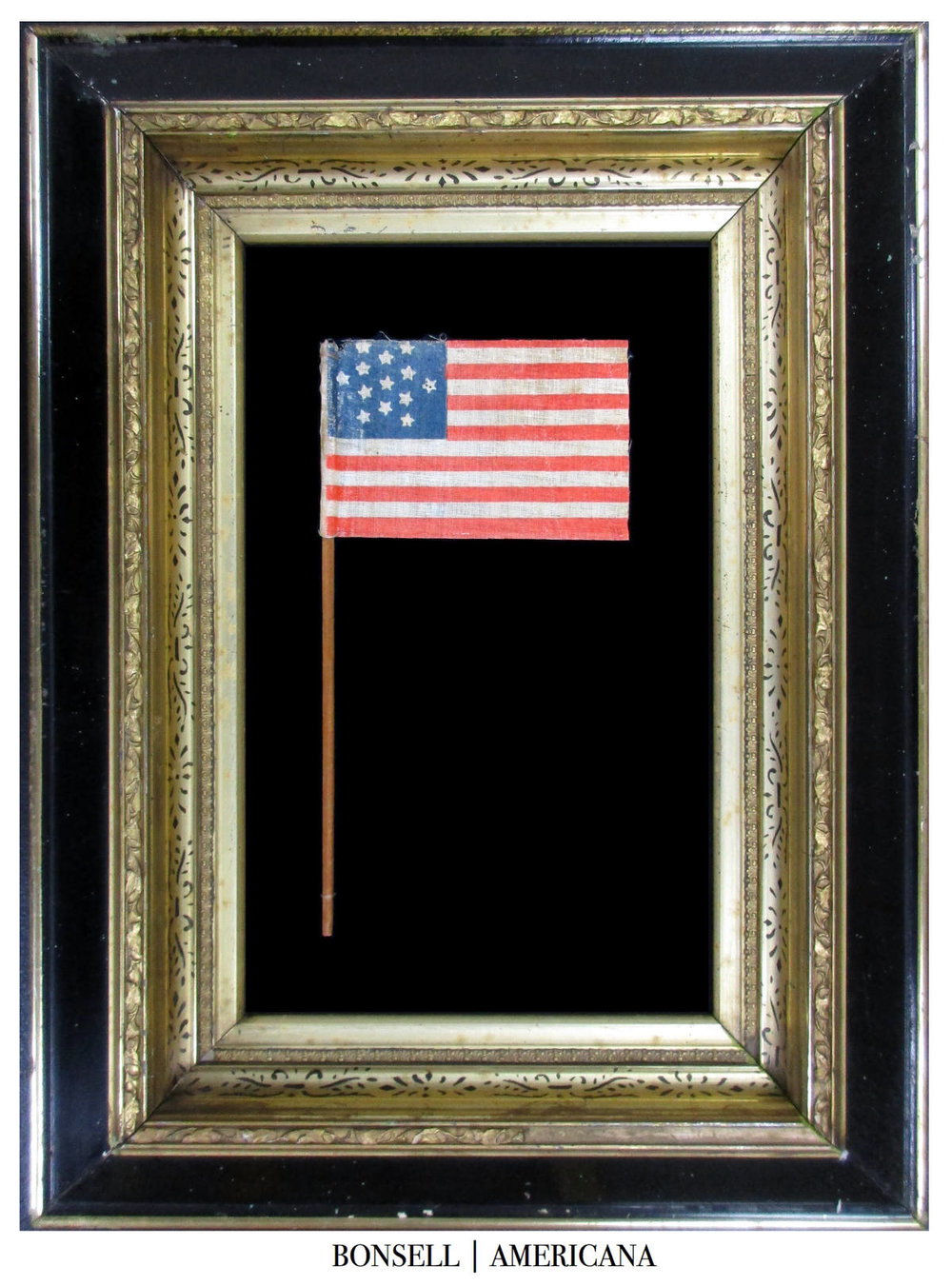 13 Star Antique Flag with a Star of David