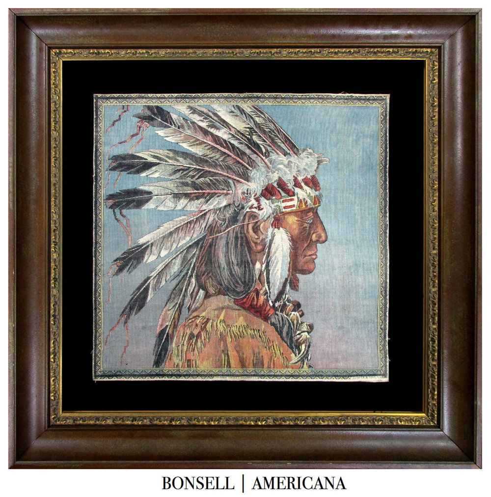 Indian Chief Sagamore Textile Made by Schwab & Wolf