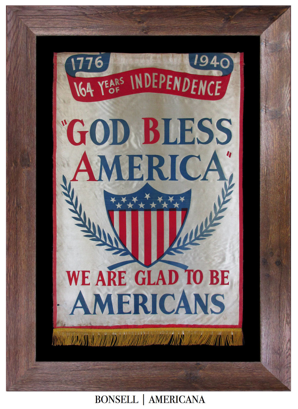 Antique God Bless America Banner