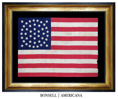 Rare Large Scale 44 Star Antique Flag with a Medallion Star Pattern ...