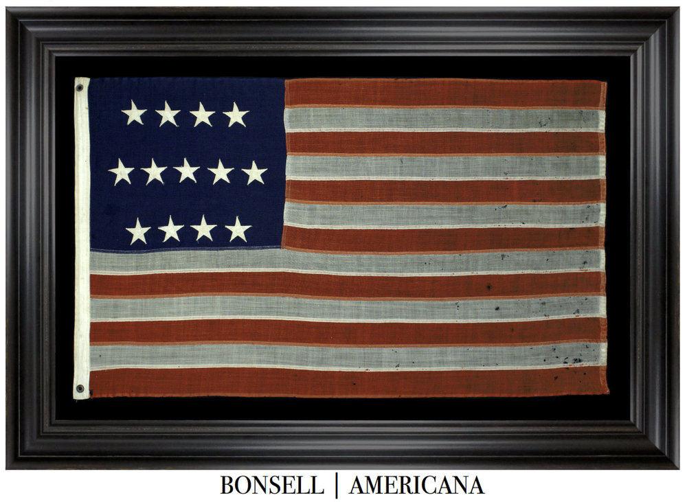 13 Star Antique US Flag