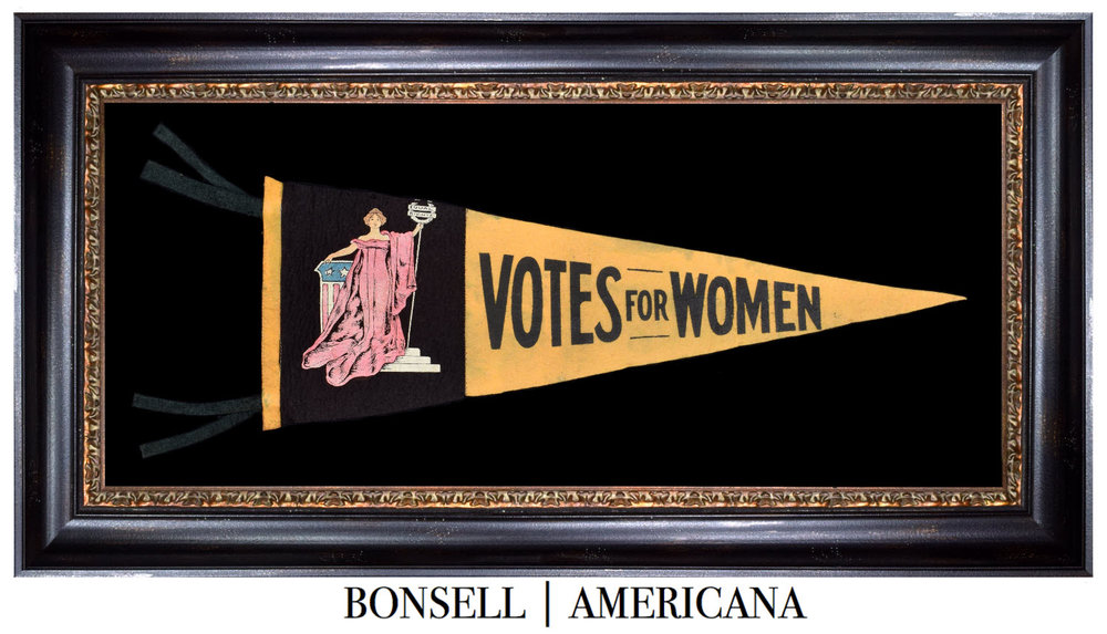 Antique Votes for Women Pennant
