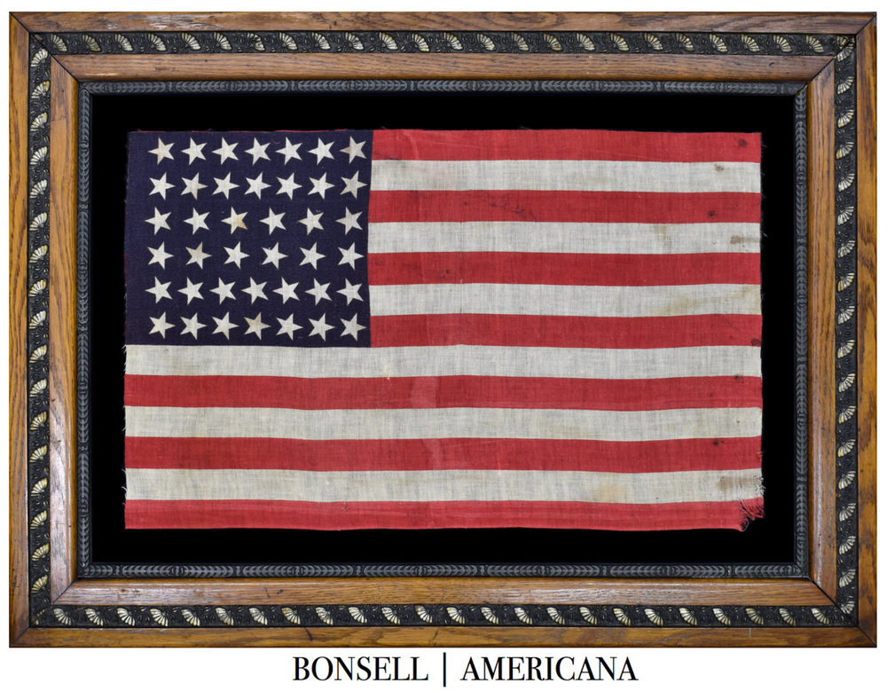 40 Star Antique American Flag