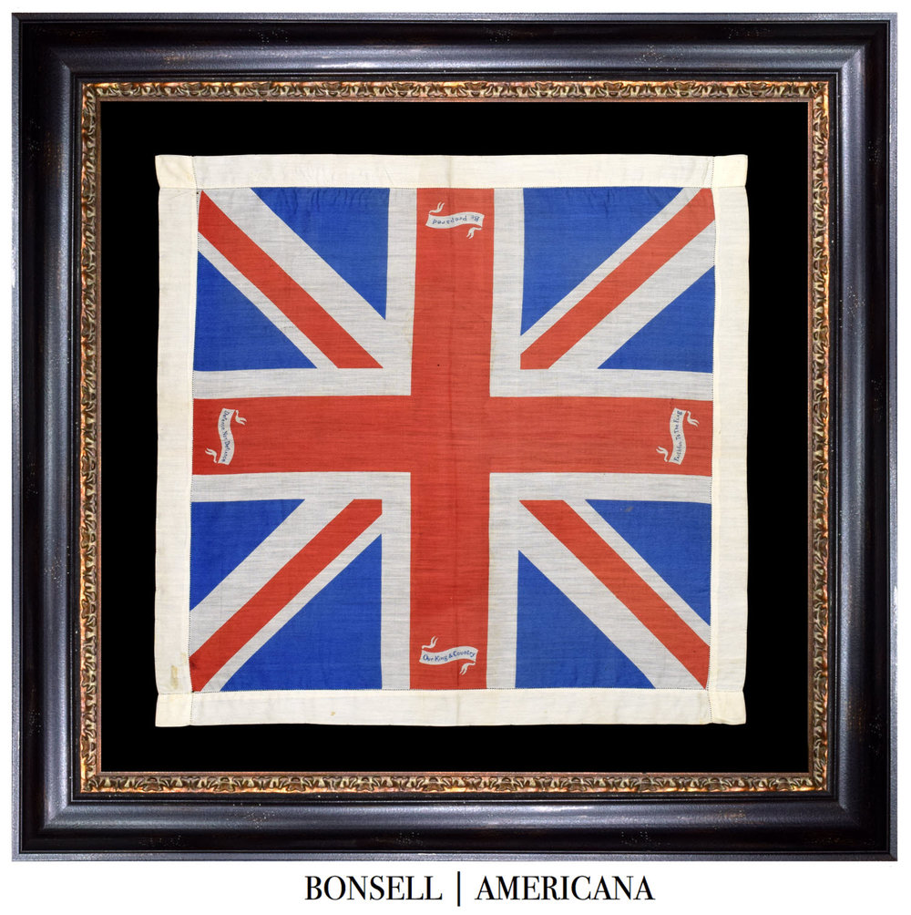 Antique Union Jack with Patriotic Quotes