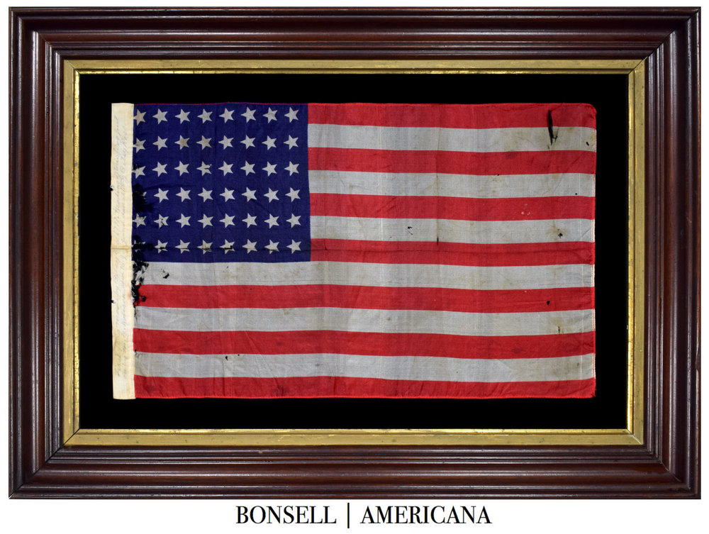 Antique Flag Made by Great Granddaughter of Betsy Ross