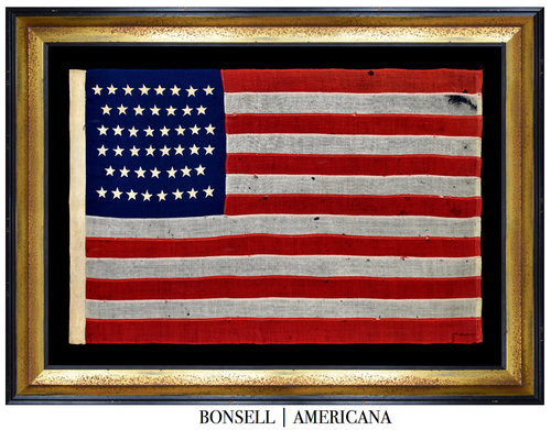 91e63fbbc717 46 Star Antique American Flag with Piece-and-Sewn Construction ...