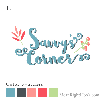 Savvy's Corner Logo Design from MeanRightHook.com