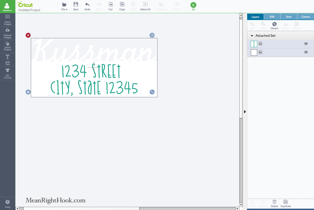 Making Return Address Labels with your Cricut Explore at MeanRightHook.com