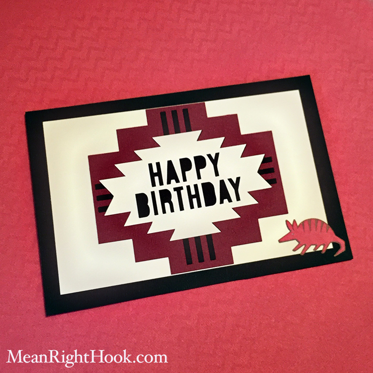 Easy Last Minute Card from MeanRightHook.com