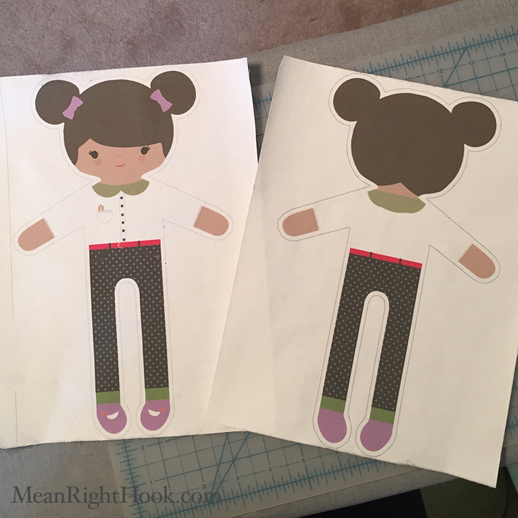 DIY Printable Doll | MeanRightHook.com
