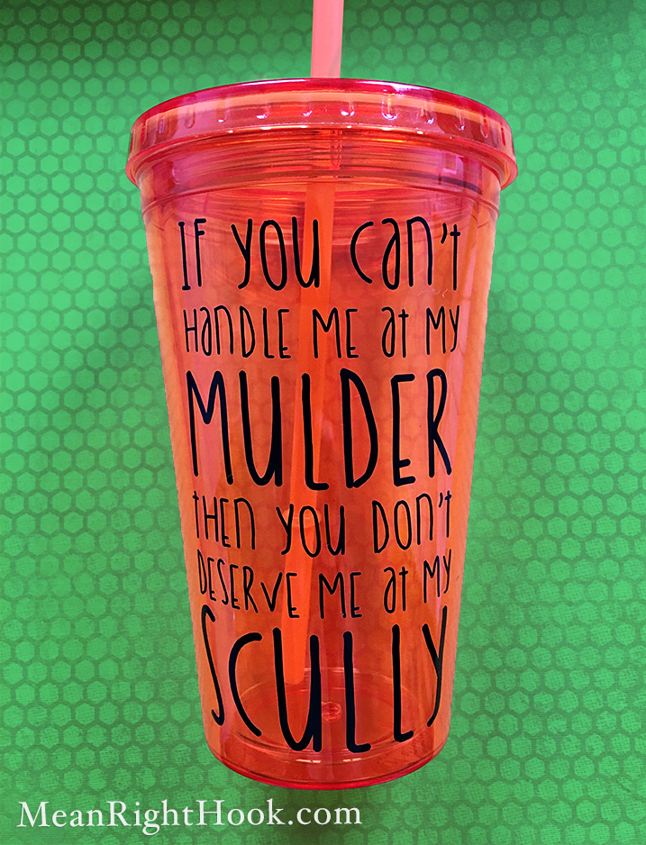 Mulder Scully Tumbler | MeanRightHook.com