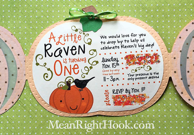 Pumpkin 1st Birthday Invitations | MeanRightHook.com