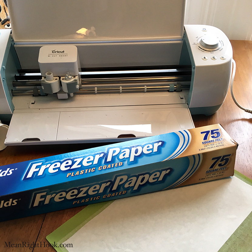How to Cut Freezer Paper With The Cricut Explore | MeanRightHook.com