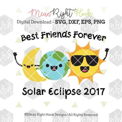 Best Friends Forever Solar Eclipse Design