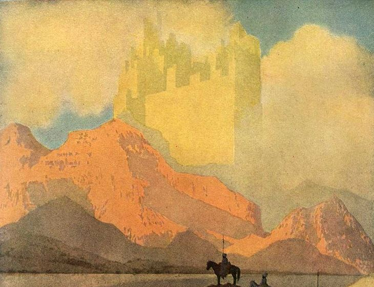 """Cities of Brass"" by Maxfield Parrish"