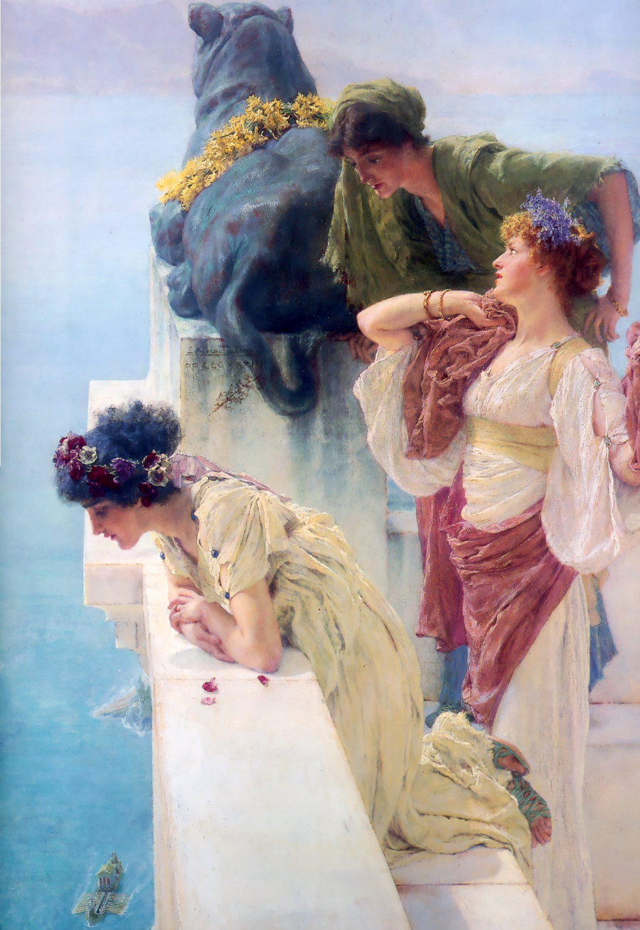 """A Coign of Vantage"" by Sir Lawrence Alma-Tadema"