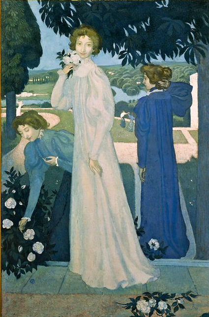 """Triple Portrait of Yvonne Lerolle"" by Maurice Denis"