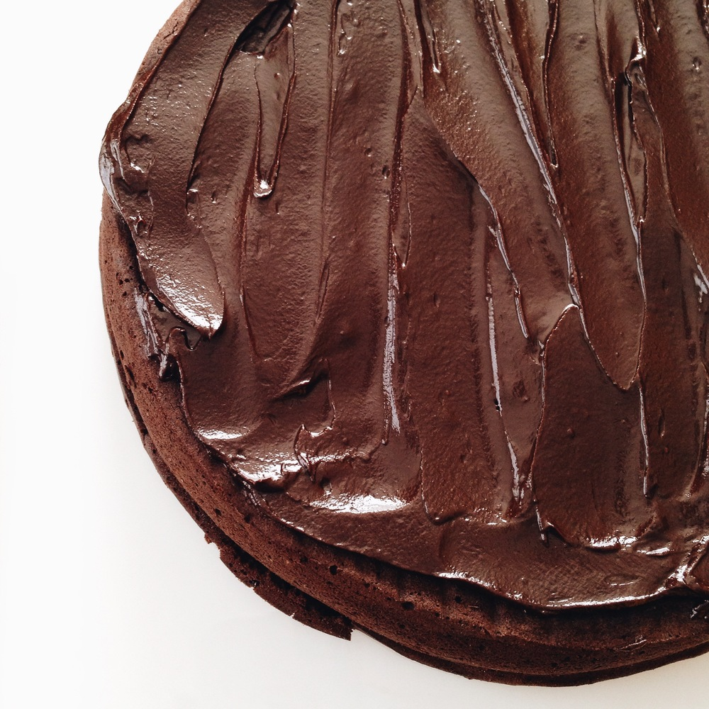 flourless chocolate rum cake.